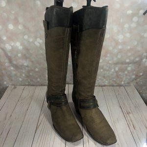 BORN Leather Taupe Knee High Size 9